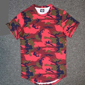 Camouflage Colors Men Longline Shirts Extra Long Oversized Tall Tees