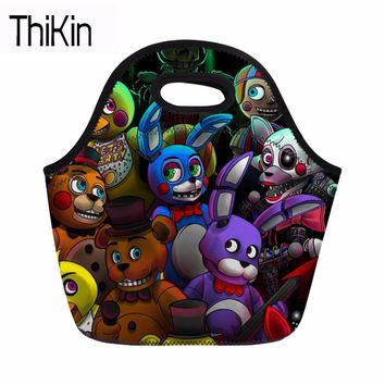 THIKIN  at Lunch Bag for Kids Boys Girls Portable Insulation Lunch Box Bag Children Thermal Food Box Bag New