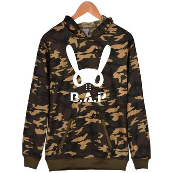 Street Tide Brand Rabbit skateboard head hooded sweater Jacket Hip-hop men's female style spring new