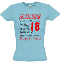 18th birthday,men t shirt,women t shirt,gift ideas,birthday shirt,gift for girlfriend,gift for boyfriend,birthday gift,funny shirt,cotton