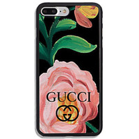 TOP!Gucci.8o Floral Pink Rose Best Case For iPhone 6 6+ 6s 6s+ 7 7+ 8 8+ X Cover