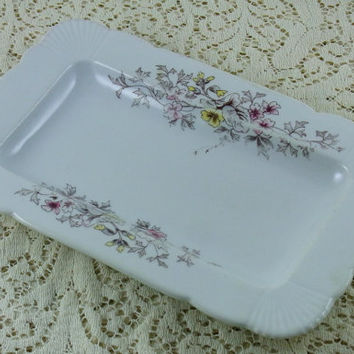 Antique Ironstone Bread Platter Antique Transferware Late 1800's