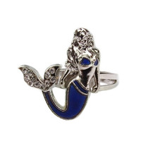 1Pc Mermaid Tail Mood Ring Emotion Feeling Color Changing Gift Size Adjustable Ring