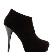 Crunched Stitching Heel Booties