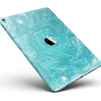 "Marble Surface V1 Teal Full Body Skin for the iPad Pro (12.9"" or 9.7"" available)"