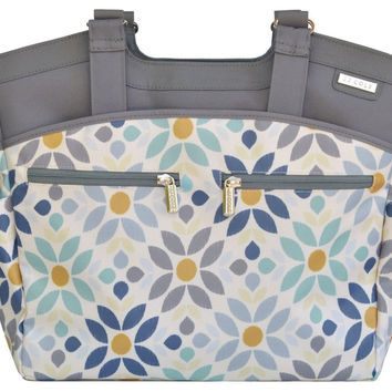 JJ Cole Camber Baby Diaper Bag Tote w/ Changing Pad - Prairie Blossom
