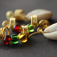 Loc Jewelry Dreadlock Jewelry Hair Accessories Rasta Jewels with Cowrie Shells