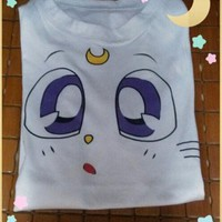 Sailor Moon Artemis  Cat Eyes T-Shirt