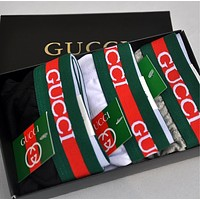 GUCCI New Popular Men Stripe Bee Underpants Male Underwear+Gift Box I12828-1