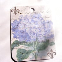 Soft Purple Hydrangea Gift Tags Set of 6 Ephemera background
