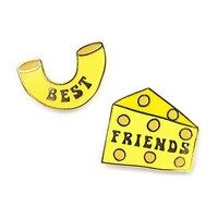 Mac & Cheese Best Friends Pin Set