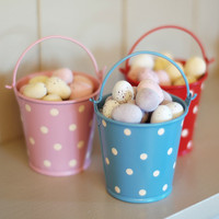 Set of 3 Mini Polka Dot Buckets