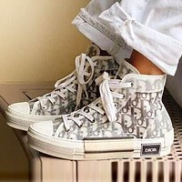 DIOR Fashionable Women Leisure High Help Flat Sport Sneakers Shoes