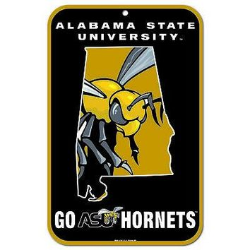 """Licensed Alabama State Hornets Official NCAA 11"""" x 17"""" Plastic Wall Sign 11x17 Wincraft KO_19_1"""