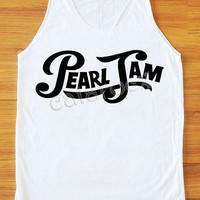 Pearl Jam Shirt Hard Rock Shirt Women Tank Top Women Tunic Top Unisex Shirt Vest Women Sleeveless Singlet Top Women Shirt White Shirt S,M,L