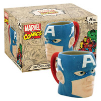 Captain America - Molded Head 15oz Ceramic Mug