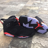 Air Jordan 6 Retro Men Black Infrared AJ6 Basketball Shoes