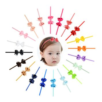 "20 PCS/Lot 2.4"" Grosgrain Baby Girl Infant Toddlers Kids Hair Bow Headbands Bands Accessories Headdress"