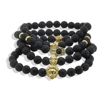 Dankaishi Trendy Gold Plated Bracelets For Men 6964