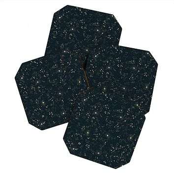 Joy Laforme Constellations In Midnight Blue Coaster Set