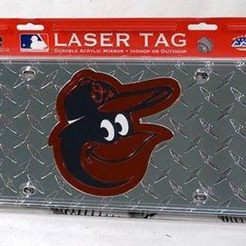 Baltimore Orioles Laser Cut Diamond Plate License
