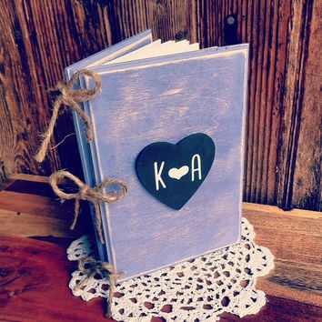 Rustic Wedding Guest Book Rustic Advice For The Bride Book Rustic Wedding Planner Book Rustic Bridal Shower Guest Book Rustic Wood