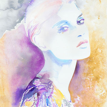 Watercolour Painting Fashion Illustration 8 x by silverridgestudio
