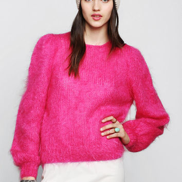 Vintage Hot Pink Mohair Sweater - Urban Outfitters