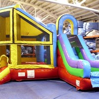 Commercial Inflatable Bounce House Moonwalk Slide Combo Obstacle  Tentandtable