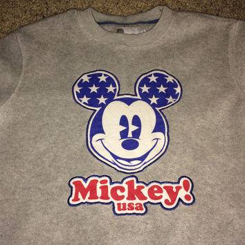 Sale!! Vintage MICKEY MOUSE Usa Casual Sweaters Kids' DISNEY SweatShirt / Sweater