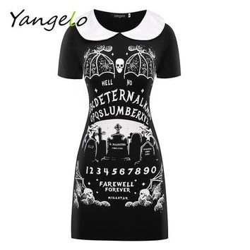 LMFUS4 HARAJUKU DRESS PUNK BLACK FURIOUS FAITH DRESS GOTHIC 2016 NEW