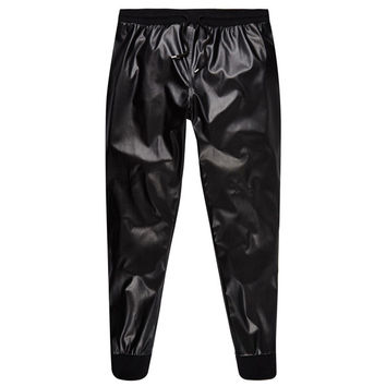 Vegan Leather Black Joggers