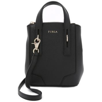 Furla Perla Mini Cross Body Tote - Onyx