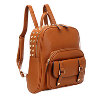 Fresh College Style Rivet Backpack