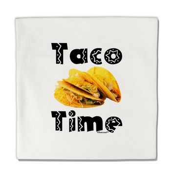 "Taco Time - Mexican Food Design Micro Fleece 14""x14"" Pillow Sham by TooLoud"