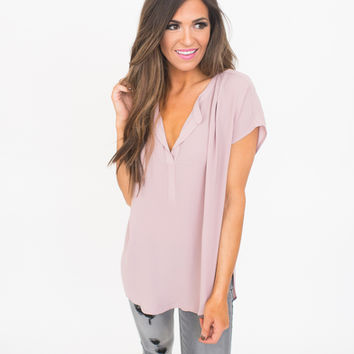Mauve High Low Chiffon Blouse