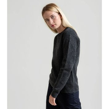 Fisherman's Rib Merino Sweater - Dark Gray