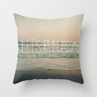 Let's Run Away by Laura Ruth and Leah Flores Throw Pillow by Leah Flores Designs | Society6