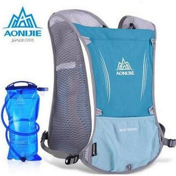 VONL8T AONIJIE New Outdoor Running Water Hydration Backpack Hiking Cycling Lightweight Sport Bag With Bottle Holder 1.5L Water Bag