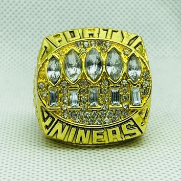 zinc alloy 1994 San Francisco The 49ers Championship Rings With Wooden Box