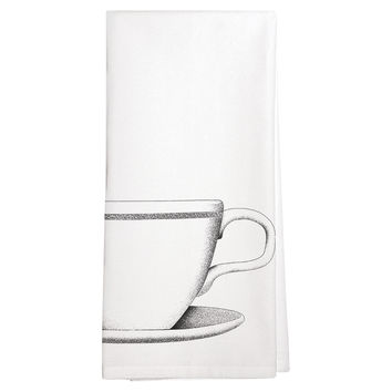 Coffee Cup Tea Towels, Set of 3, Tea towels & Dishtowels