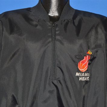 80s Miami Heat Black Pullover Windbreaker Jacket Extra Large