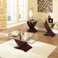 Steve Silver Cafe 3 Piece Coffee Table Set in Visible Wood Grain Espresso