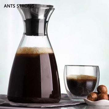 DCCKFS2 ANTS STRONG environmental thickening glass coffee pot/Anti-skid bottom design cold kettle coffee tea accessories