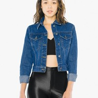 Cropped Denim Jacket | American Apparel