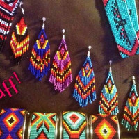 Beaded Navajo Earring