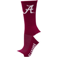 Alabama Crimson Tide Women's Vertical Stripe Quarter-Length Socks – Crimson