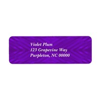 Bright Purple Subtle Abstract White Lettering Label
