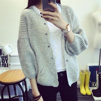Womens Casual Cool Basic Knit Sweater