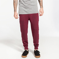 Brooklyn Cloth Space Dye Mens Jogger Pants Burgundy  In Sizes